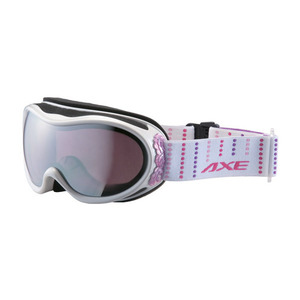 악스 AX590-WMD 스노우보드고글 SILVER MIRROR (LIGHT PINK BASE) LENS